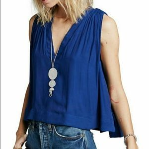 Free People Darcy Tank In Royal Blue Size M